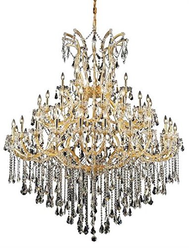 Karla Gold Traditional 49-Light Grand Chandelier Swarovski Elements Crystal in Crystal (Clear)-2381G60G-SS--36