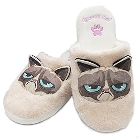 Grumpy Cat Slippers (Women's Large UK 5-7 )