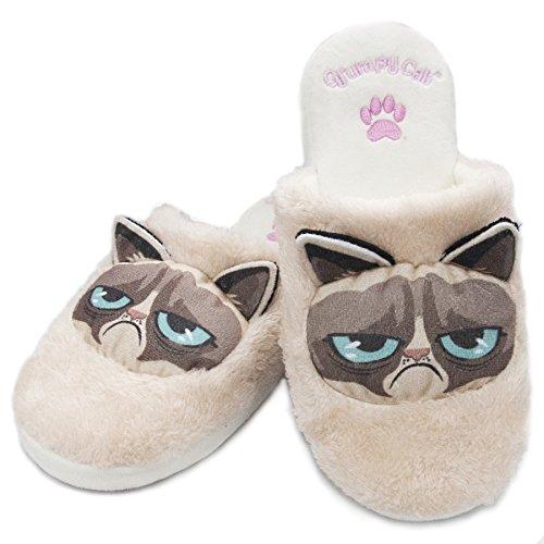 Pantofole Da Gatto Scontroso (womens Large Uk 5-7)