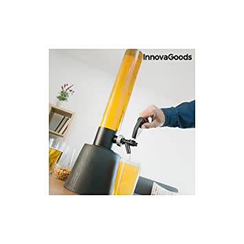 Compra InnovaGoods Tower Dispensador de Cerveza, PMMA, Negro, 19x19x85 cm en Amazon.es