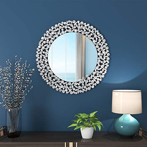 KOHROS Large Antique Wall Mirror Ornate Glass Framed Venetian Decor Mirror Bedroom,Bathroom