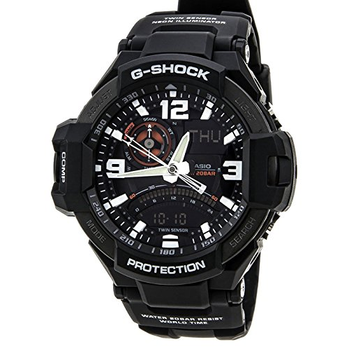 G-Shock GA-1000-1A Aviation Series Men's Luxury Watch - Black / One Size (Luxury Compass)