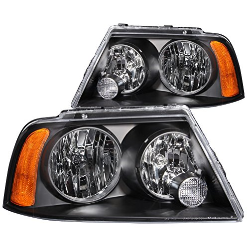 Anzo USA 111045 Lincoln Navigator Black Headlight Assembly - (Sold in Pairs) ()