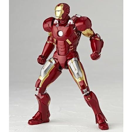 Amazon.com: Avengers Iron Man Mark 7 ABS&PVC Painted Action ...
