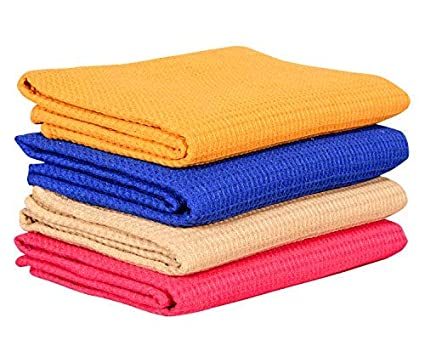 COMFORT WEAVE Cotton Bath Towels 30 X 60 4 Piece- Multicolour