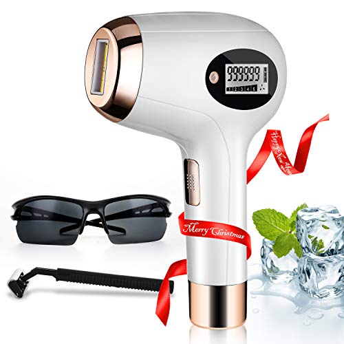 IPL Laser Hair Removal for Women At-Home Permanent Painless Hair Remover Device 999,999 Flashes Christmas Gift for You