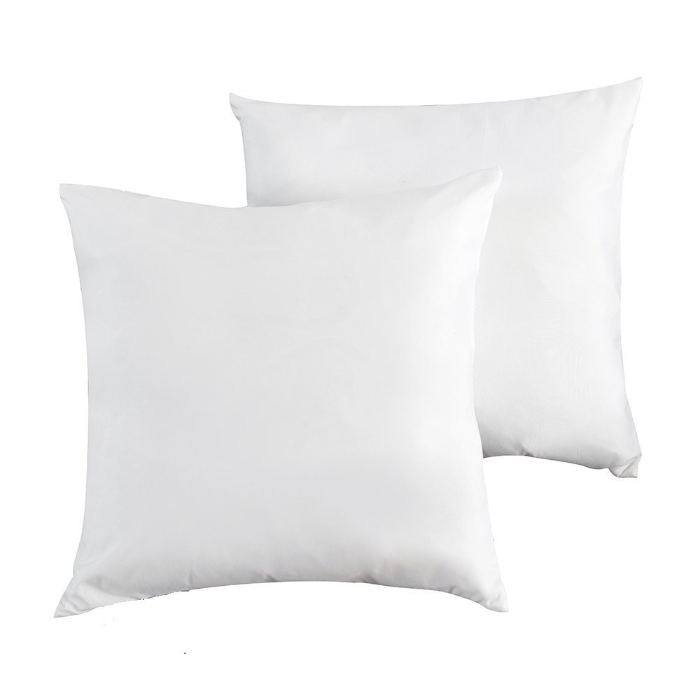 Mayfair Linen Set of 2, Down and Feather Throw Pillow Insert, Decorative Throw Pillows Inserts, Cotton Fabric, 18'' x 18 by Mayfair Linen