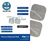 TENS unit Pads 2X2 20 pcs Replacement TENS Electrodes Pads TENS Patches For Electrotherapy