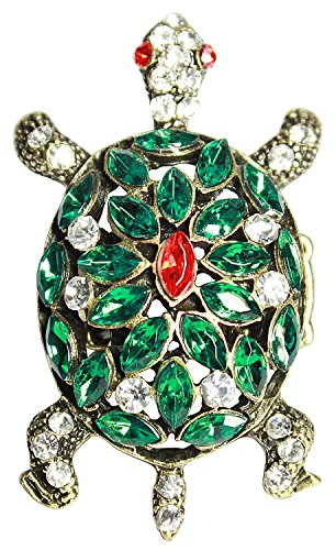 Promo Code For Costumes Express (Bijoux De Ja Gold Tone Green Rhinestone Turtle Stretched Cocktail Ring Size 7-9)