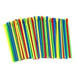 Paragon Sno-Cone Spoon Straws, Multicolor, 200-Count
