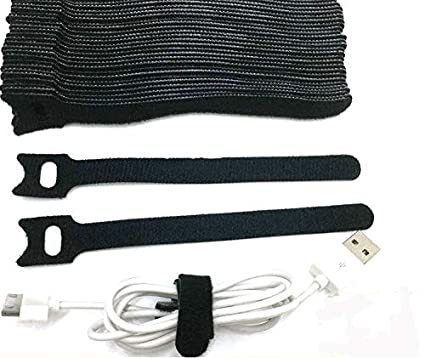 Aeoss 30 Pcs Magic Reusable Nylon Cable Ties with eyeholes Back to Back Nylon Cord tie Cable Magic Hook Organizer
