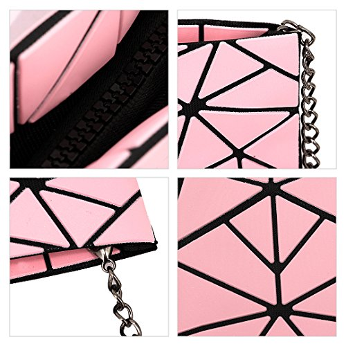 Party Bag Plaid Cross Boutique Women Shoulder Geometric Silver Body Ladies Pink Novias Clutch O8wRqcff
