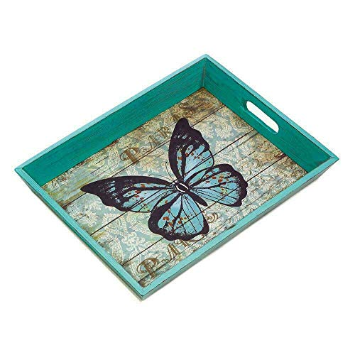 Zings & Thingz 57073944 Butterfly Tray, Green