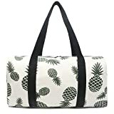 FITMYFAVO Pineapple Tote Duffle Bag For Gym Yoga Overnight Weekender