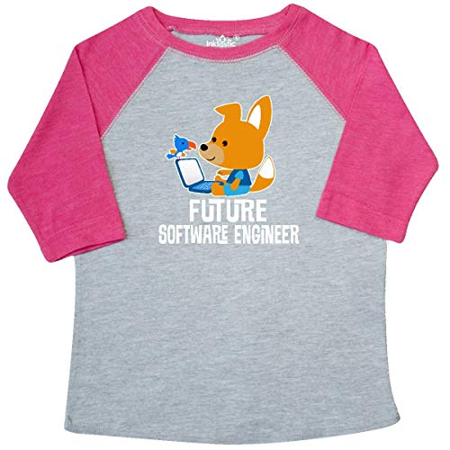 inktastic - Future Software Toddler T-Shirt 3T Heather and Hot Pink - Future Software