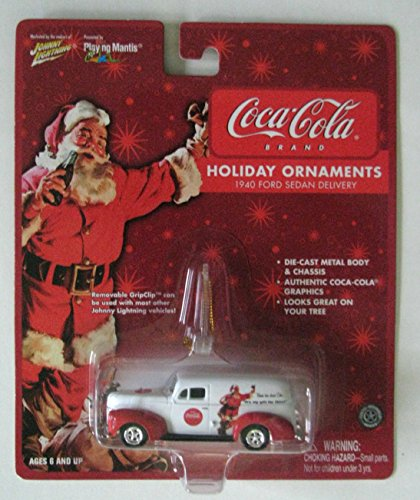 Johnny Lightning Coca-Cola Holiday Ornament 1940 Ford Sedan Delivery Vehicle