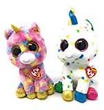 TY BEANIE BUNDLE TY Beanie Boos bundle of 2, Includes Medium sized Harmonie the Unicorn and Medium sized Fantasia the Unicorn