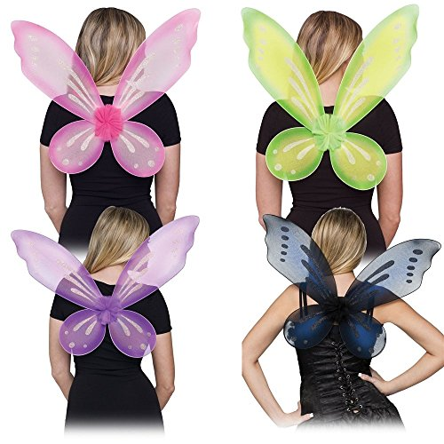 Fun World Women's Fairy Adult Wings Costume Accessory, green Standard ()