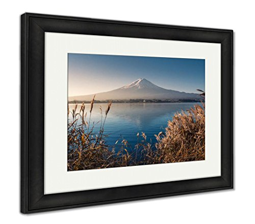 Mountain Fuji in Morning from Lake Kawaguchiko, Wall Art Home Decoration, Color, 34x40 (Frame Size), Black Frame, AG5910127 ()