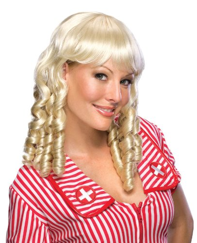 Secret Wishes  Costume Baby Doll Blond Wig, Yellow, One Size -