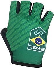 Barbedo Sports, Luva Time Brasil, Preta/ Detalhes/ Verde, Tamanho G