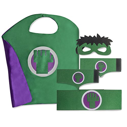 Kid's, Boy's and Girl's SuperHero Costumes Multi-Pack with 5 Pieces