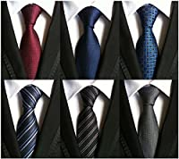 WeiShang Lot 6 PCS Classic Men's 100% Silk Tie Necktie Woven JACQUARD Neck Ties