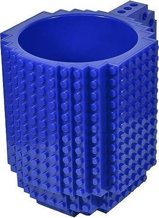 Awesome Juegos de construcción diseño taza compatible con LEGO color azul