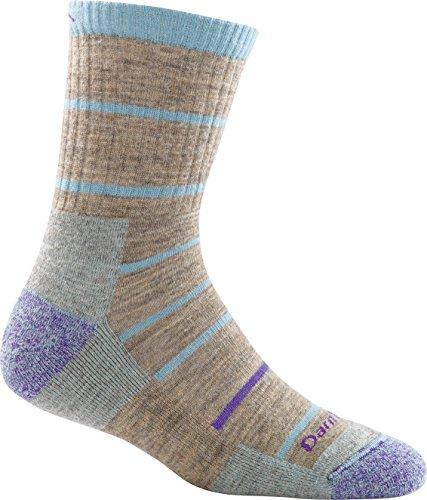 Darn Tough Summit Stripe Micro Crew Cushion Sock - Women's Pebbles Medium DISCONTINUED