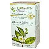 Celebration Herbals White and Mint Tea Organic 24 Tea Bag, 36Gm