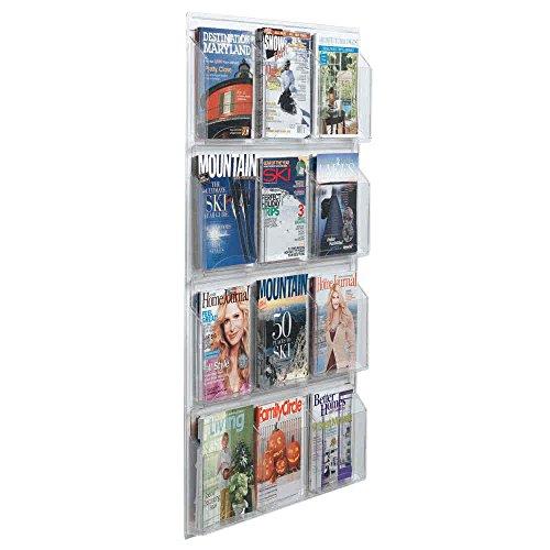 "TableTop King LRC111 30"" x 49"" Clear-Vu 12-Pocket Magazine Display"