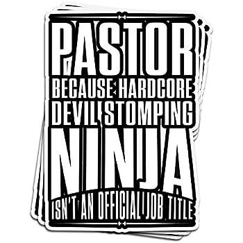 Amazon.com: ViralTee 3 PCs Stickers Pastor Because Hardcore ...
