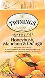 Twinings of London Honeybush, Mandarin & Orange Herbal Tea, 20 Count (Pack of 6)