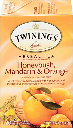 Twinings of London Honeybush, Mandarin & Orange Herbal Tea, 20 Count (Pack of 6)