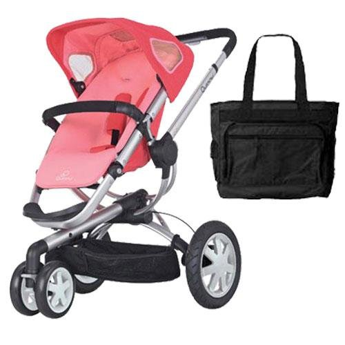 (Quinny CV155BFXKT1 Buzz 3 Stroller with Diaper Bag - Pink Blush)