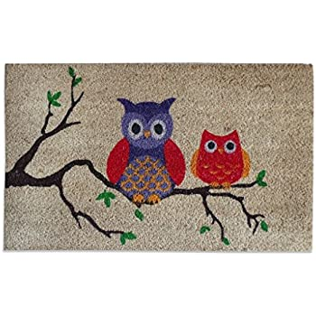 A1 Home Collections Owl Pvc Tufted Designer Doormat