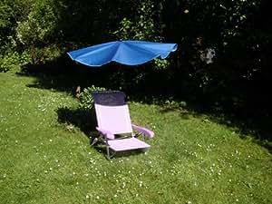 Portátil Aluminio sol silla Liegen Juego aprox. 2,4Kilo–Aluminio Stabielo silla–Color Lila–6posiciones Asiento hasta Posición Soporta aprox. 110Kilo–Jubiläums Set con Rabo Exklusiv Compartimiento de sol pantalla funda tenaza estrecha Berg–Hollymat Protección UV–30+ 40+ 50+ Color Azul Con 360° giratorio universalgelenkh allterung con tapas protectoras de goma para kratzfreien Fijación–Holly Productos Stabielo®–Innovaciones fabricado en Alemania–Acción de tiempo de Existencias de