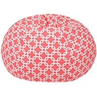 Gold Medal Bean Bags Small/Toddler Gotcha Hatch Pattern Print Bean Bag, Coral