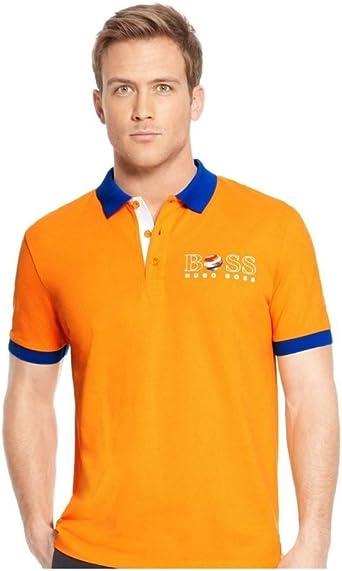 Hugo Boss - Polo - Clásico - para hombre Naranja naranja L ...