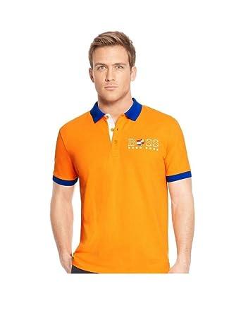 Hugo Boss - Polo - Clásico - para Hombre Naranja Naranja L: Amazon ...