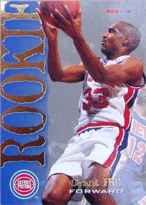Amazoncom Grant Hill Rookie Card 199495 Nba Hoops 322
