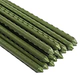 Sturdy Steel Garden Stakes 4-Ft Plastic Coated