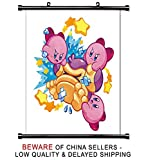 kirby mass attack - Kirby Mass Attack Nintendo DS Game Fabric Wall Scroll Poster (16 x 16) Inches