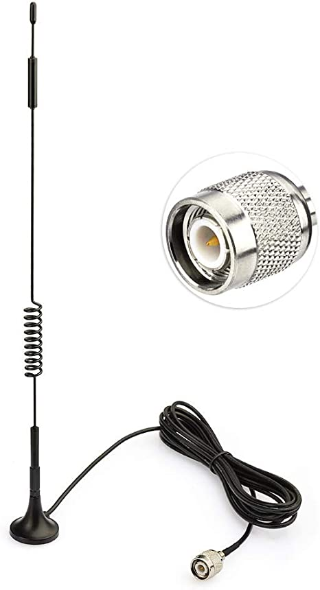 Eightwood 4G LTE Antena GPS Antena Adaptador TNC de Antena 7dbi con Cable de extensión de 3m para enrutador 4G LTE Antena 4G DTV Enrutador Industrial ...