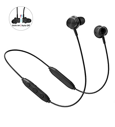 387babc261f Bluetooth Earbuds,Langsdom L33 Stereo Lightweight Wireless Headphones  with Magnetic Connection,IPX6