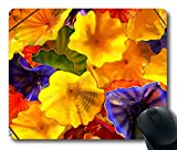 MIMY unique Mouse Pad with glass sculpture by dale chihuly wallpaper Rubber Standard Size 9 Inch(220mm) X 7 Inch(180mm) X 1/8(3mm)