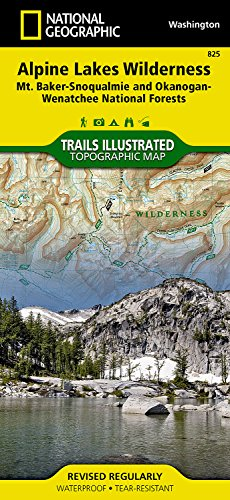 Alpine Lakes Wilderness [Mt. Baker-Snoqualmie and Okanogan-Wenatchee National Forests] (National Geographic Trails Illustrated Map) National Forest Mt