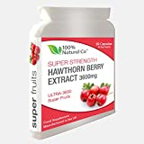 Hawthorn Berry Capsules 100% Natural Co Super Strength Extract