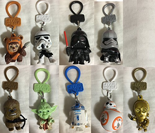 STAR WARS - SET of 9 Keychain Character Bag Clip Figures