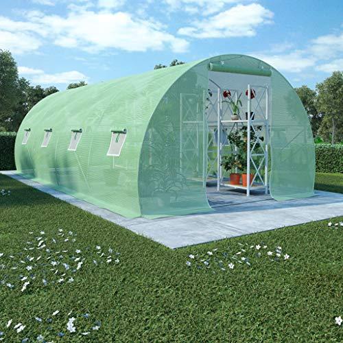 FAMIROSA Greenhouse with Steel Base 18 m2 600 x 300 x 200 cm